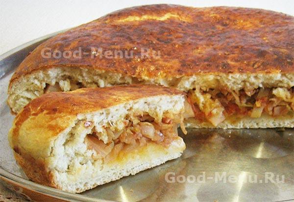 Пирог с капустой рецепт из дрожжевого теста