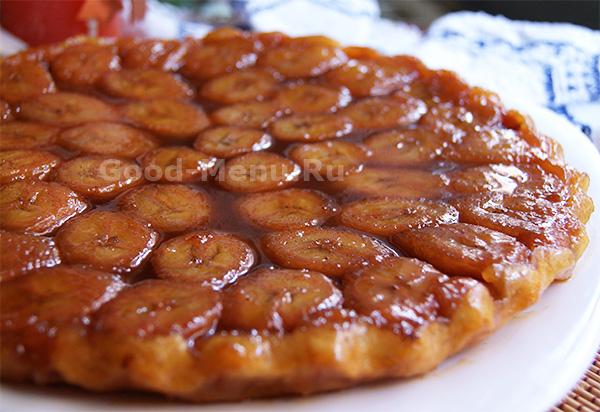 Банановый пирог из слоеного теста - пошаговый рецепт с фото на 3