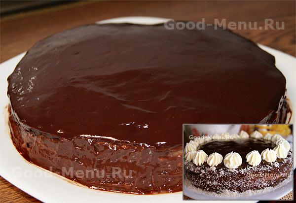 Шоколадная глазурь пошаговое фото