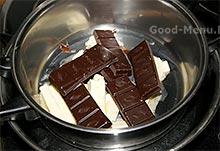 Торт Брауни - топим шоколад