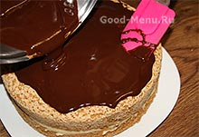 Простой глазури из какао для торта