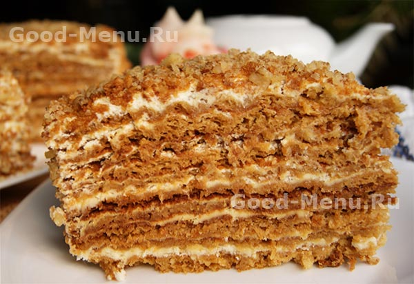 Рецепт торт медовый сметанный крем