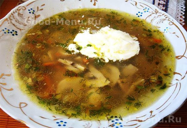 густой суп с грибами рецепт