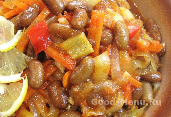 Овощное рагу с фасолью - рецепт