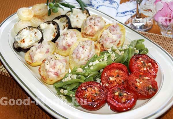 Запеченные овощи в духовке: рецепты с фото пошагово 44