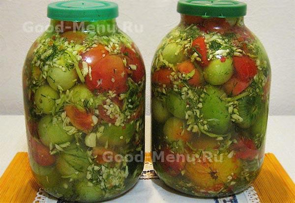 как приготовить кислый томат на зиму