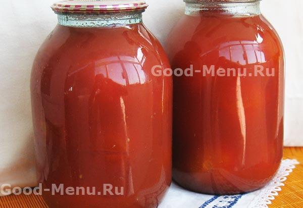 рецепт помидоров в собственном соку с томатной пастой