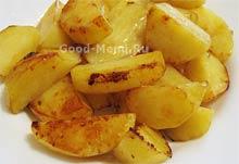 Режем картошку для овощного рагу
