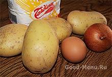 Драники - картошка, лук и мука