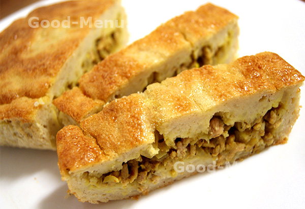 Картофельный пирог с фаршем - рецепт