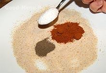Картофель спиралью - смесь соли и специй