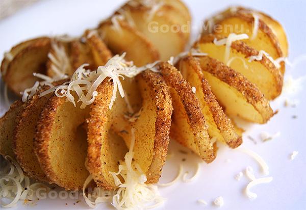 Картофель спиралью в духовке - рецепт