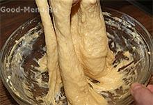 Ромовая баба - месим тесто