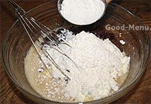 Пирог с творогом - мука + сода