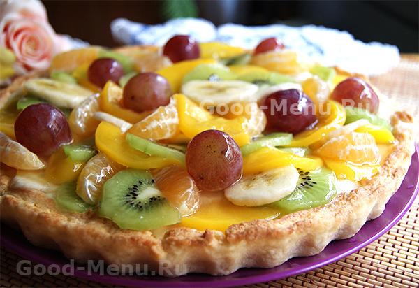 Пирог с фруктами - рецепт