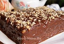 Готовый вафельный торт