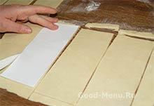 Торт Монастырская изба - вырезаем прямоугольники