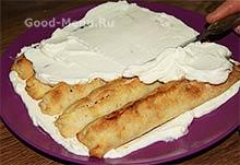Торт Монастырская изба - первый слой