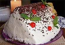 Украшаем торт Монастырская изба