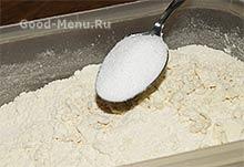Торт Монастырская изба - кладем сахар
