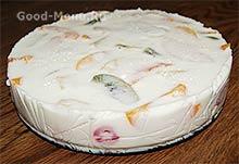 Готовый торт Битое стекло с фруктами