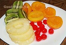 Торт Битое стекло - фрукты для торта