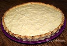 Яблочный пирог - корзинка с кремом
