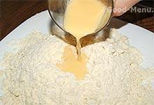 Банановый пирог - замешиваем тесто