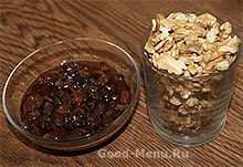 Изюм и орехи для торта Панчо