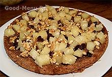Торт панчо - кусочки ананаса, изюм и орехи