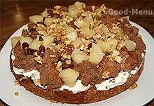 Торт панчо - ананас, изюм и орехи
