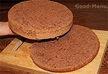 Торт панчо -разрезаем бисквит