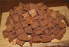 Торт панчо - режем бисквит кубиками