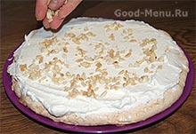 Торт с безе - орехи