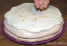 Торт с безе - второй корж