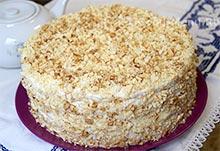Украшаем творожный торт