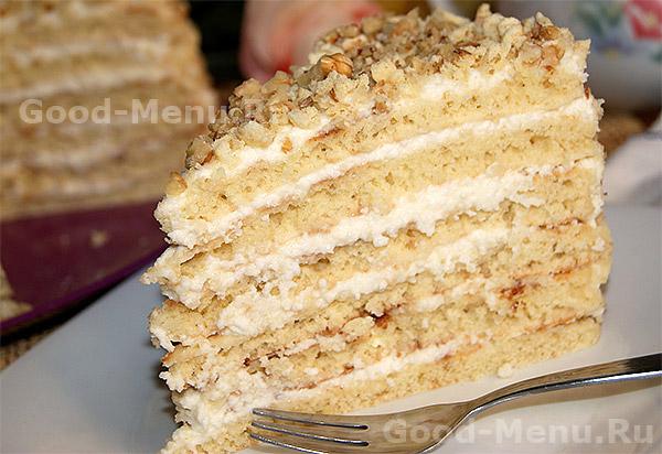 Творожный торт - рецепт