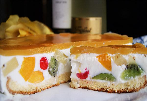 Торт Битое стекло - рецепт
