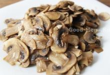 Жареные грибы для фаршированного перца