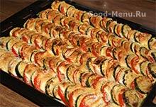 Готовые кабачки запеченные в духовке