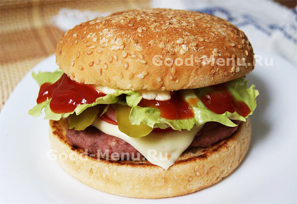 как испечь гамбургер