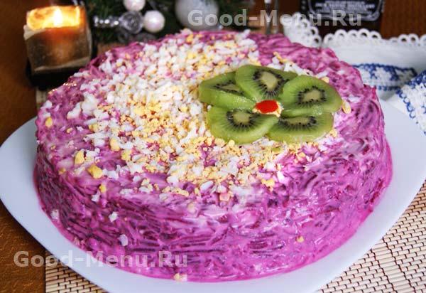 Канапе Селедка под шубой, пошаговый рецепт с фото