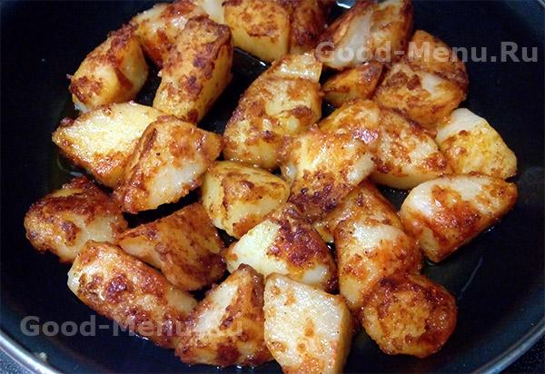 Жареная картошка с корочкой - рецепт