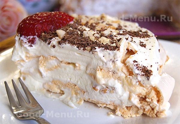 Торт с безе - рецепт новогоднее меню 2019