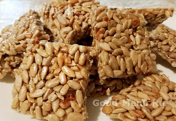 Козинаки из семечек - рецепт