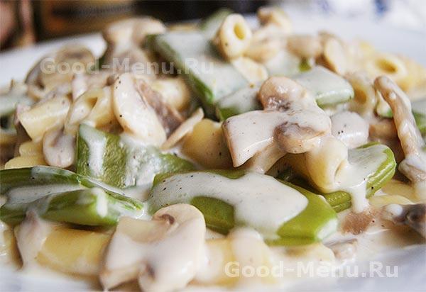 Стручковая фасоль с грибами - рецепт